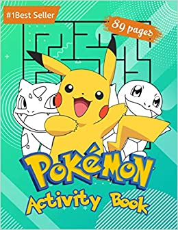Book's Cover of Pokemon Activity Book: For Kids Amazing Educational Jumbo Workbook for All Little Pokemon Go Fans. Puzzles Coloring Pages Mazes Sudoku Word Search and ... Levels Children All Ages Great Gift (Inglés) Tapa blanda – 21 octubre 2020
