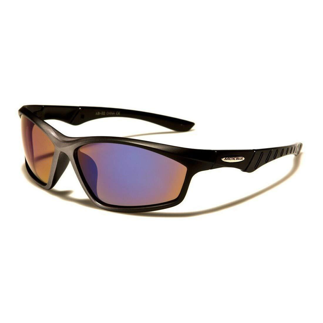 Arctic Blue Two Tone Frame Anti Glare Lens Mens Fashion Sunglasses