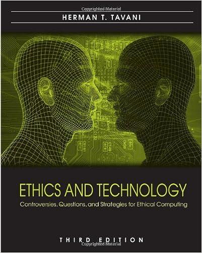 Ethics And Technology Tavani Pdf