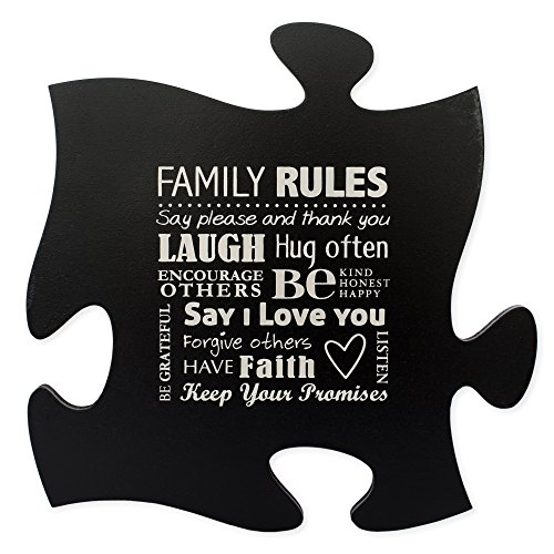 Puzzle Piece Wall Art By P. Graham Dunn (Family Rules - - Minnesota Outlet In Mall