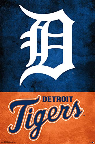 Trends International Detroit Tigers - Logo Wall Poster, 22.375