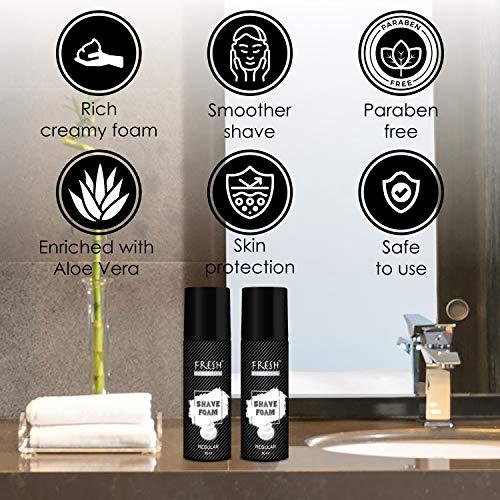 Fresh Essential Shave Foam – Regular, 50 ml (Pack of 2)