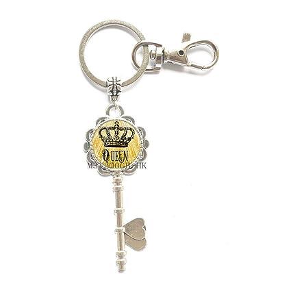 Llavero con diseño de corona, llavero de la Reina, llavero ...