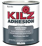 KILZ Adhesion High-Bonding Interior/Exterior Latex Primer/Sealer, White, 1 quart