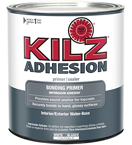 KILZ Adhesion High-Bonding Interior/Exterior Latex Primer/Sealer, White, 1 (Bond Primer)