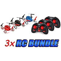 Micro Supernova 2.4GHz 4.5CH RC Drone 3-Pack Bundle