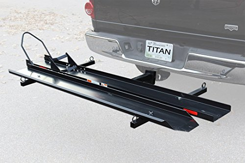 Sport BIke Motorcycle Carrier Rack Hitch Hauler Ramp Truck Cargo 600lb Capacity by Titan Ramps