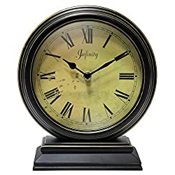Infinity Instruments The The Dais Antique Table Clock with Personality and Style