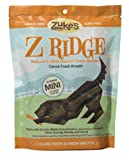 Zuke's Z-Ridge Mini - Carrot Fresh Breath Dental Chew Bones, 15 Count Pouch