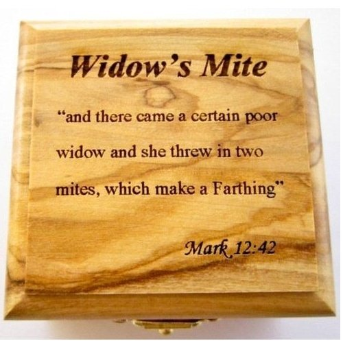 Authentic widow's mite - grade A - coin - gift pack! olive wood box+widow's mite authentic coin+certificate from and authorized Israel Antiquities' dealer