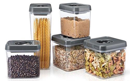 Polder KTH-2236-425 Twist-Lock Airtight Food Storage Canisters,