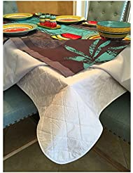 first quality quilted table protectors quilted dining table pad with flannel backed for more protection 60 in x 84 in