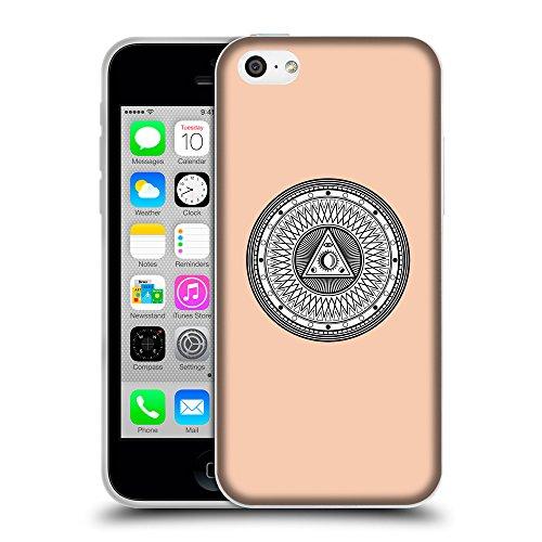 GoGoMobile Coque de Protection TPU Silicone Case pour // Q09650604 Mystique occulte 14 Abricot // Apple iPhone 5C