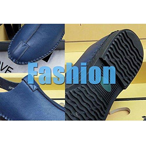 Pelle Uomo Black Casual Comfort On in Guida da Silp Microfibra Scarpe Soft Scarpe Stagioni Fashion pq56Tw
