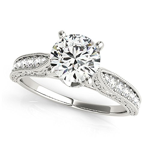 Forever One Antique Vintage Style Moissanite Engagement Ring 1.50 Ctw.