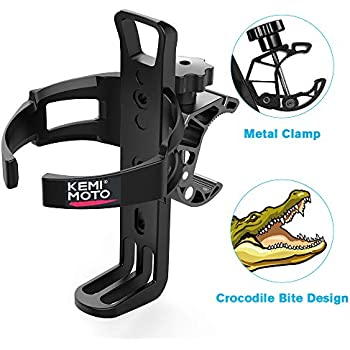 kemimoto ATV Cup Holder Metal Swivel Motorcycle Drink Holder Compatible with Harley Honda Suzuki Yamaha Can Am Rollator Walker Wheelchair Pushchair Bicycle