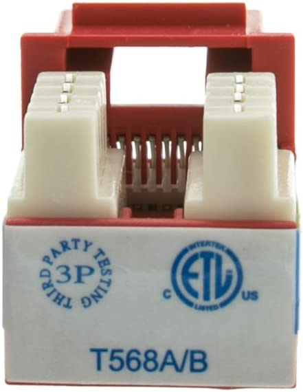 BoltLion BL-696160 Cat6 RJ45 Keystone Jack in Punch-Down Stand, for Home//Offices//Hotels//Schools 30 Pack Blue UTP//UL Listed