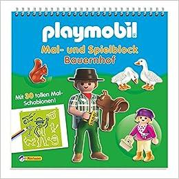 Playmobil Mal Und Spielblock Bauernhof Mit 30 Tollen Mal