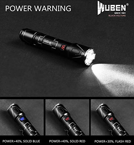 WUBEN I330 Tactical Torch Flashlight CREE XPL-V5 IPX-8 350 Lumens Rechargeable USB Flashlight,Super Bright torch 7 modos Professional for Outdoor Activety