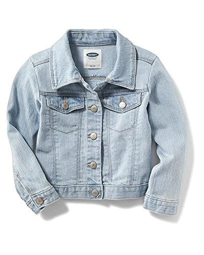 Old Navy Back to School Sale for School Toddler Girls Denim Jacket!! (Bleached Denim, 4T) ()