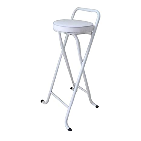 Tremendous Amazon Com Portable Barstools Silver Metal Round Padded Bralicious Painted Fabric Chair Ideas Braliciousco