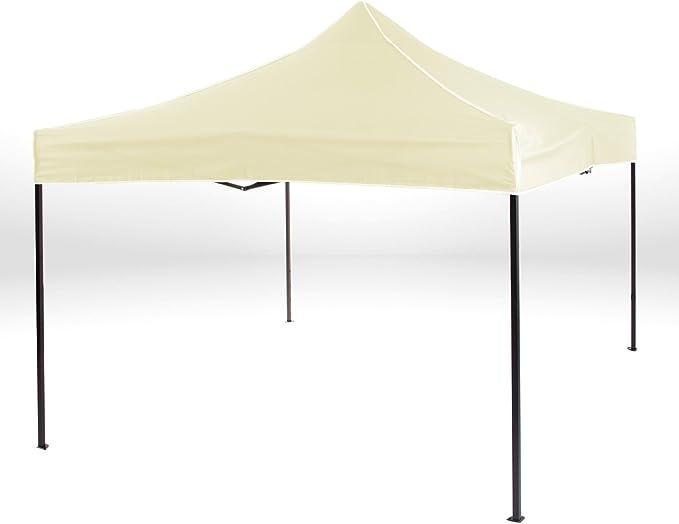 Strattore Pavillon Faltbar Partyzelt Gartenzelt Zelt mit Dach Partyzelt Garten Terrasse Markt Camping Festival 3x3 m in Hellgelb