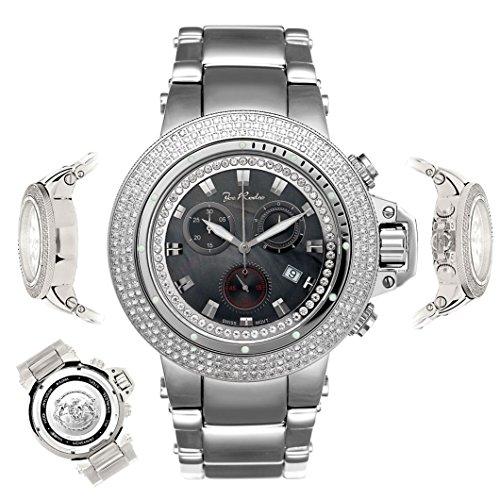 - Joe Rodeo Diamond Men's Watch - RAZOR silver 4 ctw