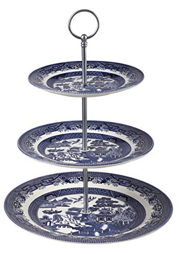 Churchill China Blue Willow Cake Stand 3 Tier (Cake Stand 10.2