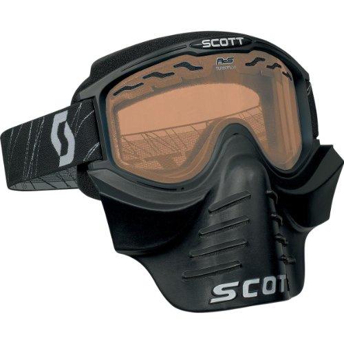 Scott USA 83X Safari Facemask , Primary Color: Black, Distinct Name: Black/Rose Lens, Gender: Mens/Unisex 227388-0001106