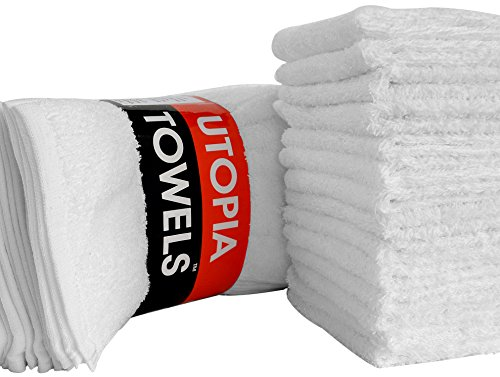 Utopia Towels Washcloths (24 Pack, 12 x 12 Inch) Pure Cotton Wash Cloth Multi-Purpose Highly Absorbent Extra Soft for Face, Hand, Gym & Spa