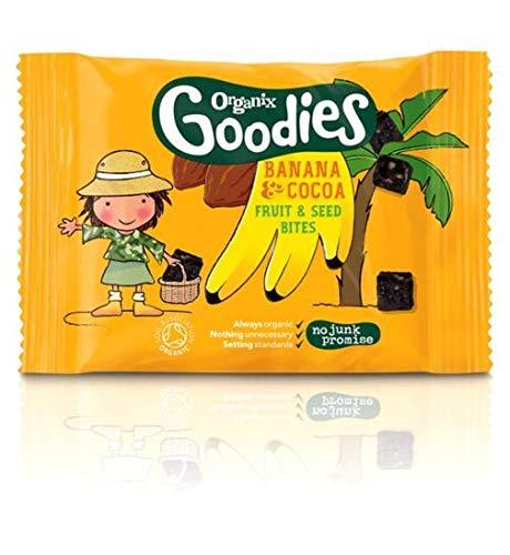 Organix Goodies Cocoa & Banana Fruit & Seed Bites 20g