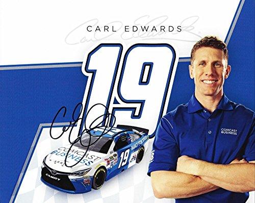 autographed-2015-carl-edwards-19-comcast-business-racing-gibbs-team-signed-promo-8x10-nascar-hero-ca