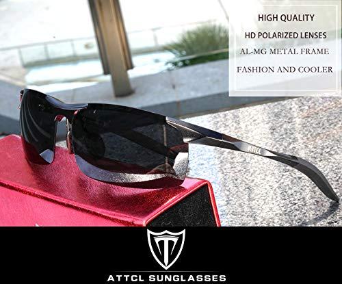 ATTCL Men/'s Retro Driving Polarized Sunglasses Man Al-Mg Metal Frame Ultra Light