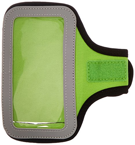 Mybat UNIVP255NP Sport Armband Case for Cell Phones and Smartphones - Retail Packaging - Neon Green
