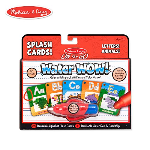 Melissa & Doug On the Go Water Wow! Reusable Water-Reveal Activity Cards - Alphabet and ()