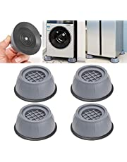 4 Pcs Shock Noise Cancelling Washing Machine Support, Washer and Dryer Anti-Vibration Pads, Slip Anti Vibration and Noise Reducing Rubber Washing Machine Feet Pads
