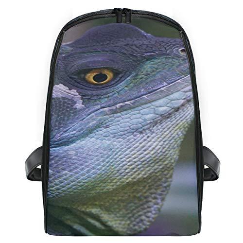 - Backpack Casual Daypack Rucksack Wildlife Beak Reptile Iguana Fauna Lizard School Slim Bag for Boy Girls