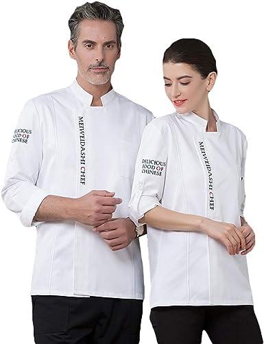 SK Studio Unisexo Algodón Manga Larga Chaqueta Cocina Uniforme Camisa de Cocinero Estilo 6: Amazon.es: Ropa y accesorios