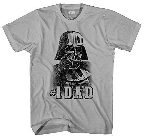 Star Wars Darth Vader  1 Dad Father Mens Adult Graphic Tee T Shirt  Medium  Grey