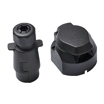 Gazechimp 7-polig Kunststoffstecker (N-Typ) für Anhänger Elektrische ...