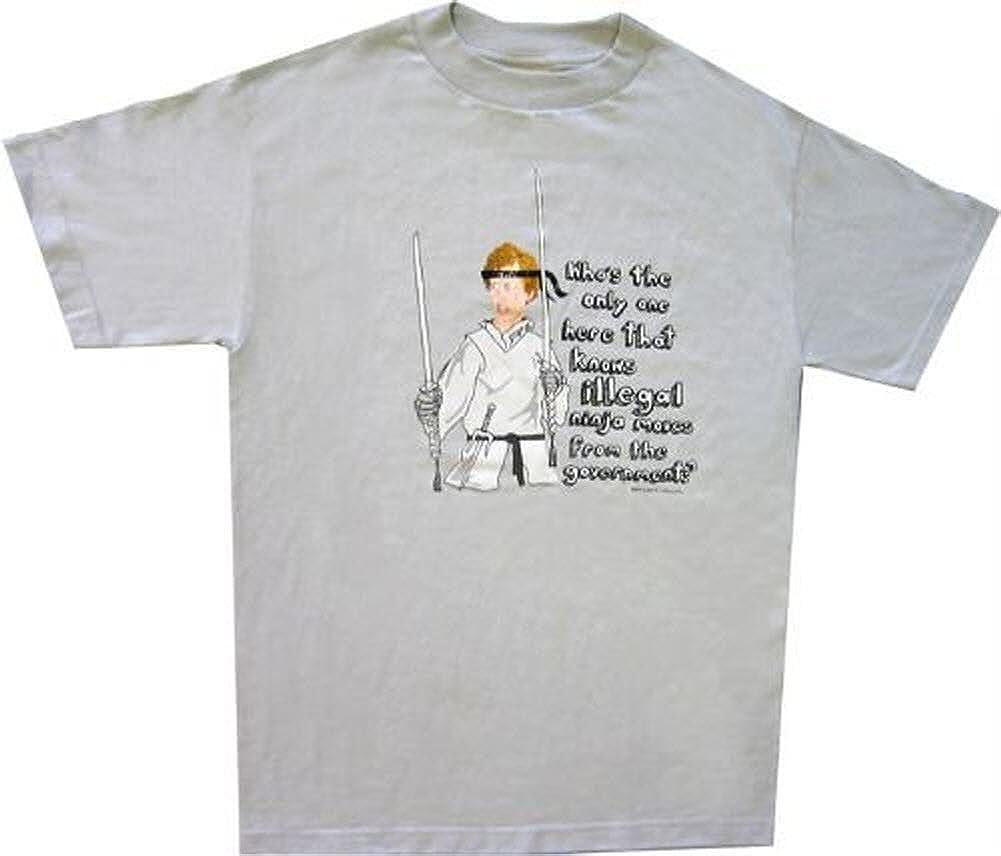Napoleon Dynamite Ilegal Ninja se Mueve Camiseta Gris Claro Gris Gris Claro Medium: Amazon.es: Ropa y accesorios