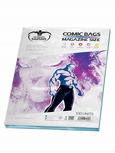 Ultimate Guard Resealable Magazine Comic - Comic 100 Bags Magazine