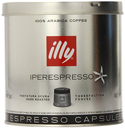 illy Coffee, iperEspresso Capsule, Dark Roast Espresso Pods, 100% Arabica Bean Signature Italian Blend, Premium Gourmet Roast, Compatible with illy iperEspresso Machines, (21 ct)