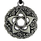 Pentacle of the Goddess Wiccan Jewelry Pagan Subtle Pentagram Necklace