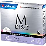 1000 Years Archival Verbatim M-Disc BDXL Inkjet Printable   100GB 4x Speed   5 Pack Jewel Case
