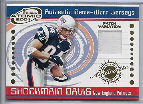 Atomic Football (2001 Pacific Prism Atomic Football Shockmain Davis Game Used Patch Card # 126)