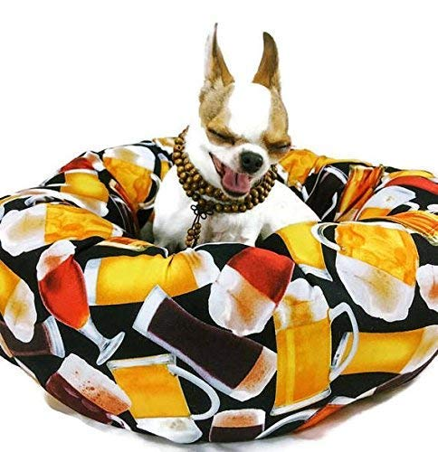 Beer Round Pet Bed