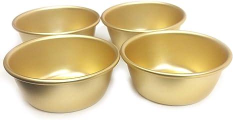 3Pcs Korean Rice Wine Aluminum Cups for Makgeolli Dongdongju Camp Drink Bowls,S