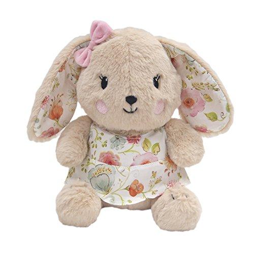 Happi by Dena Sweet Spring Bunny Plush Toy Sugar, Pink/Brown