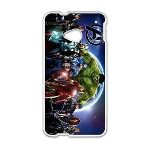 US Super Heros White HTC M7 case